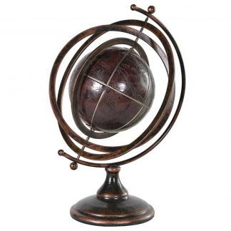 Antique style stand globe