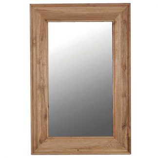 Large Oak frame mirror