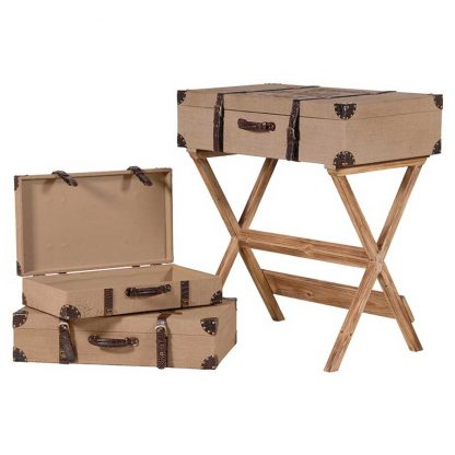 Set 3 suitcases & stand