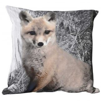 Fox cub cushion