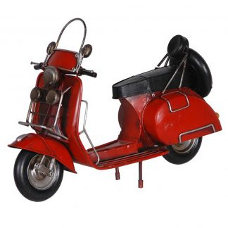Model red scooter