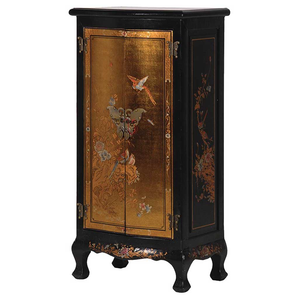 Gold & black butterfly cabinet