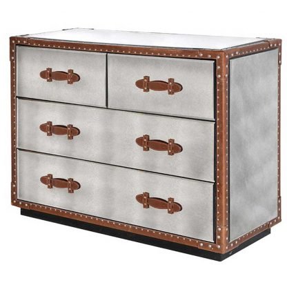 Leather 4 drawer chest