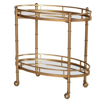 Two tiered oval trolley