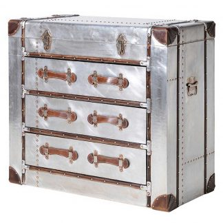 Silver 3 draw trunk chest