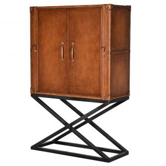 Leather stanLeather stand drinks cabinetd cabinet