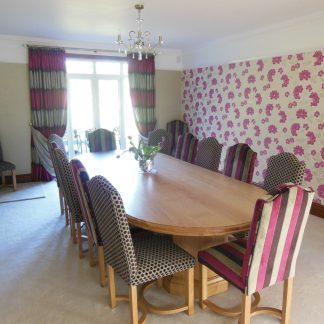 Dining table & 11 chairs