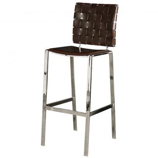 Woodward brown weave bar stool