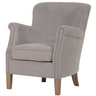 Grey cotton easy chair