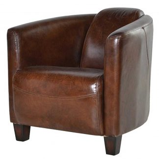 Marlborough leather armchair