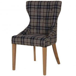Dunnington tartan dining chair