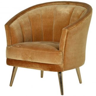 Gold curved back chair