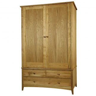 Harvard Oak double wardrobe