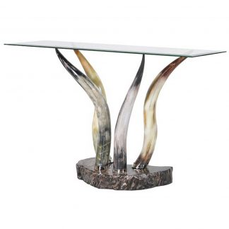 Horns console table